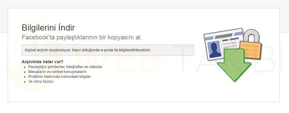facebook-arşiv-işlemleri