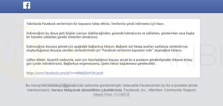 facebook-arşiv-indirme