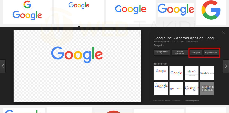 google-gorseller-kaydet-ozelligi