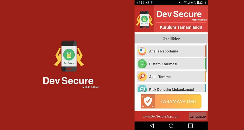 Dev Secure mobil antivirüs