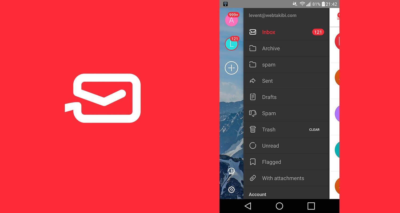 MyMail çoklu hesap yönetimi