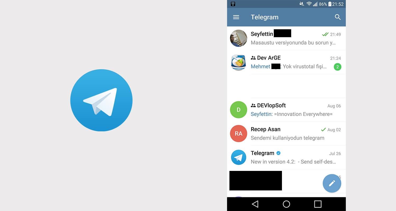 Telegram konuşma uygulaması