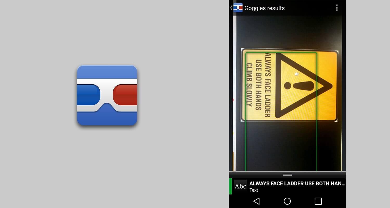 Google Googles yazı algılama