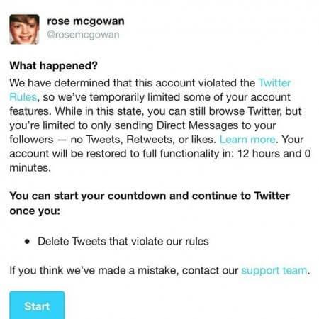 Twitter Rose McGowan