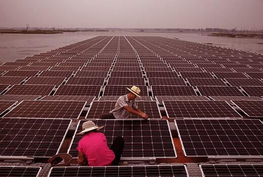 Çin yüzen güneş paneli santrali