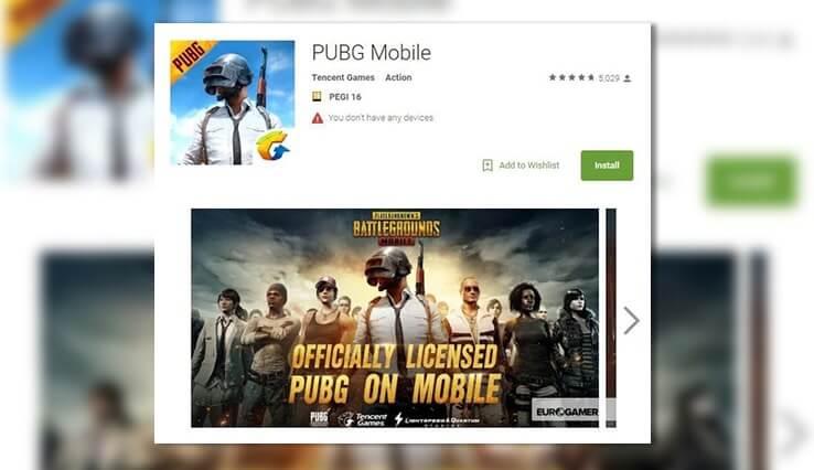 PUBG mobil Android versiyonu