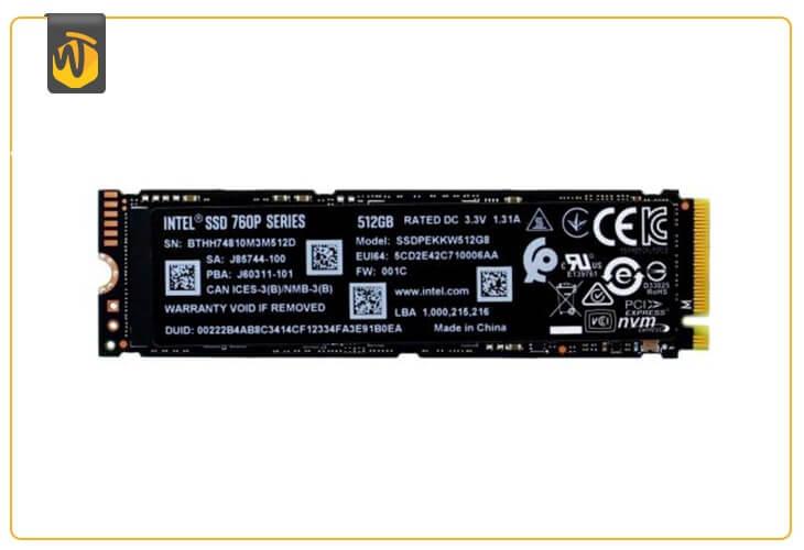 En iyi SSD önyükleme sürücüsü: Intel 760p Series SSD