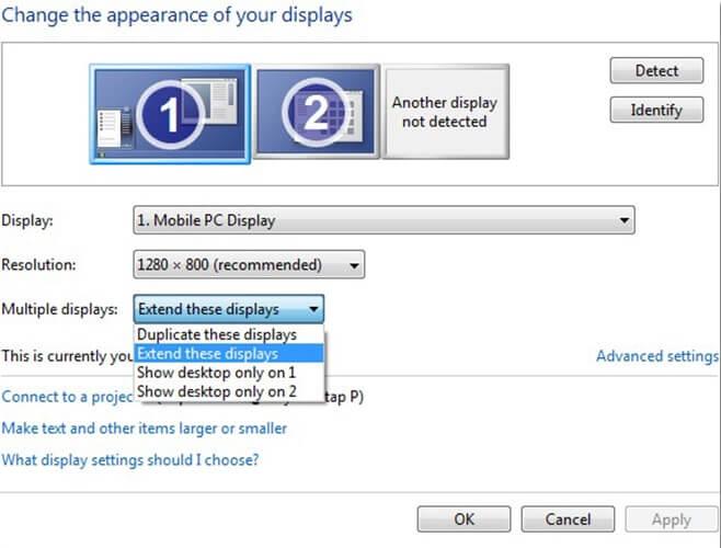 Çift monitör yapımı Windows 7