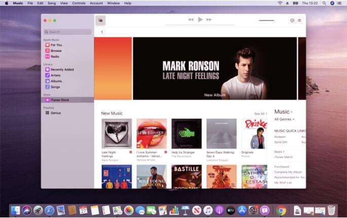 macOS Catalina Music uygulaması