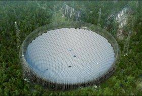 Çin 30 Futbol Sahası Büyüklüğünde Uzaylıları Aramak İçin Bir Radyo Teleskop İnşa Ettier