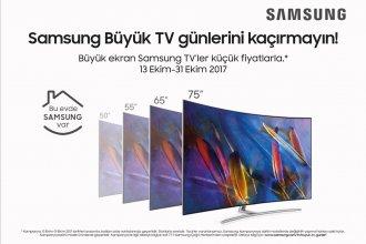 Samsung büyük TV günleri başladı