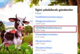 Çiftlikbank Twitter'da binlerce kişi tarafından desteklendi