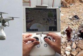 Bitlis'te Köy Korularına Drone İle Tatlı İkramı