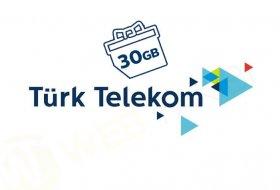 Türk Telekom 30GB'a kadar ücretsiz internet dağıtıyor!